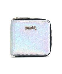 X-girl/エックスガール 財布 X-girl 二つ折り財布 ラウンドファスナー コンパクト METALLIC WALLET メタリック レディース 05194009/503112237