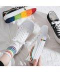 miniministore/キャンバス スニーカー レディース ローカット 刺しゅう入り 靴 おしゃれ 配色 シューズ履きやすい/503112337