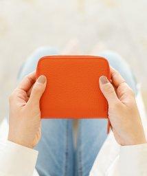 MURA/【MURA】イタリア製シュリンクレザー ラウンドファスナー ミニ財布 二つ折り財布/503113170