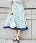 KUMIKYOKU(S SIZE)/【シルク混】フラワープリント スカート/503114424