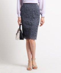 INDIVI/[S]【ママスーツ/入学式 スーツ/卒業式 スーツ】ジャカードレースタイトスカート/502853112