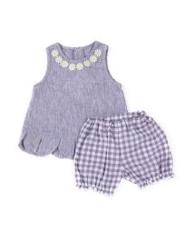 e-baby/チェック+ダンガリーフラワーチュニックセット/503049616