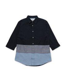 JUNRed/TCオックス裾切替レギュラーシャツ/503082150