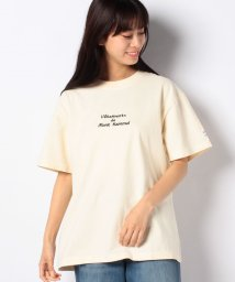 MELROSE Claire/【mont kemmel】胸元刺繍ロゴビンテージライクTシャツ/503089864