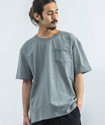 Rocky Monroe/ビッグT Tシャツ メンズ USAコットン ビッグシルエット 無地 半袖 ポケット オーバーサイズ クルーネック 8800/503114301