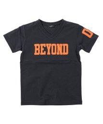 GLAZOS/天竺・ロゴナンバープリント半袖Tシャツ/503114861