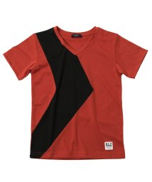 GLAZOS/バックメッシュ・切り替え半袖Tシャツ/503114865