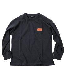 GLAZOS/天竺・ドロップショルダーポケット長袖Tシャツ/503114867
