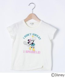 SHOO・LA・RUE(Kids) /【Disney/ディズニー】「ミニーマウス」デザイン スリットTシャツ/503115258
