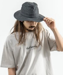 Rocky Monroe/ハット メンズ デニム ツバ広 ロングブリム 帽子 カジュアル 無地 シンプル 綿 コットン ドローコード カジュアル おしゃれ 8370/503115353