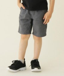 THE SHOP TK(KID)/【100-150cm】【吸水速乾】チェック・ストライプ柄サッカーショートパンツ/503115563