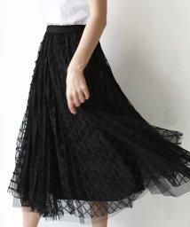 REAL CUBE/格子チュールレイヤードプリーツスカート/503116311