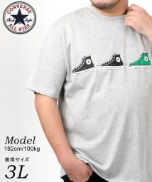 MARUKAWA/【CONVERSE】コンバース 大きいサイズ シューズプリント 半袖Tシャツ/503080110