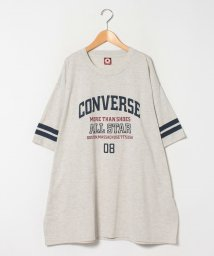 MARUKAWA/【CONVERSE】コンバース 大きいサイズ 袖ライン カレッジプリント 半袖Tシャツ/503080111