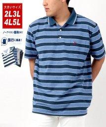 MARUKAWA/【BEVERLY HILLS POLO CLUB】ビバリーヒルズ ポロクラブ 大きいサイズ チェック ボーダー ワンポイント 刺繍 ポロシャツ/503080114