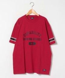 MARUKAWA/【GENUINE DICKIES】ジェニュインディッキーズ 大きいサイズ 袖ライン カレッジプリント 半袖Tシャツ/503080116