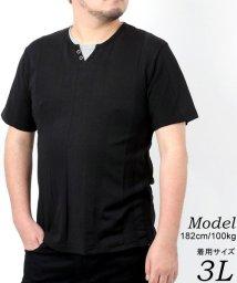 MARUKAWA/【LOUIS CHAVLON】大きいサイズ Yヘンリーネック キーヘンリーネック 半袖Tシャツ/503080118