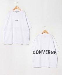 MARUKAWA/【別注】【CONVERSE】コンバース 大きいサイズ バックロゴ ミニロゴ刺繍 ビッグシルエット 半袖Tシャツ/503080119