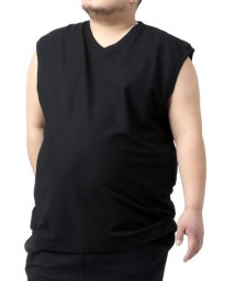 MARUKAWA/【cosby】コスビー 大きいサイズ 無地 ドライワッフル Vネック ノースリーブ/503080121