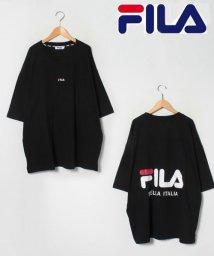 MARUKAWA/【別注】【FILA】フィラ 大きいサイズ ビッグシルエット ミニロゴ刺繍 バックロゴプリント 半袖Tシャツ 女性にもおすすめ/503080133