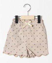petit main/リボンつき裾スカラップショートパンツ/503088155