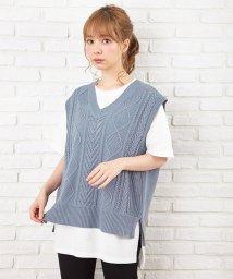 INGNI/7G透かしニットベスト+TシャツSET                 /503094381
