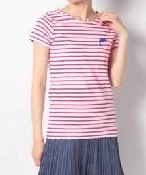 en recre/【ULTRA TEE】いるか刺繍ボーダーTシャツ/503106834