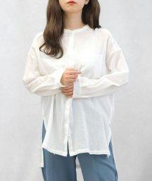 ANDJ/楊柳コットンバンドカラーシャツ/503109368