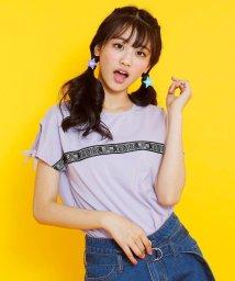 JENNI belle/ロゴテープフレンチスリーブTシャツ/503115844