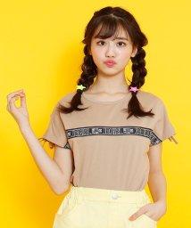 JENNI belle/【WEB限定】ロゴテープフレンチスリーブTシャツ/503115844