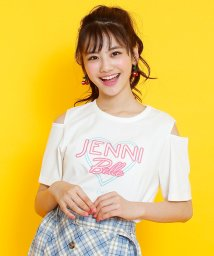 JENNI belle/肩開きネオンロゴTシャツ/503115846