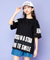 SISTER JENNI/シースルー切替半袖BIGTシャツ/503116147