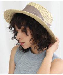 Alluge/UVワイドリボンカンカン帽/503116823