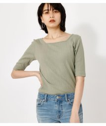 AZUL by moussy/【VERY5月号掲載】2WAY RIB CUT TOPS/503117106