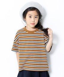 devirock/BIGシルエットボーダーTシャツ/503117464