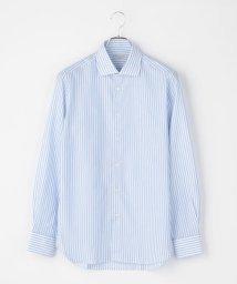SHIPS MEN/GUY ROVER: パナマ ロンスト ワイドカラーシャツ(ライトブルー)/503117817