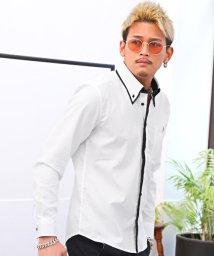 LUXSTYLE/デザイン切替シャツ/長袖シャツ メンズ シャツ チェック ストライプ 切替/503119060