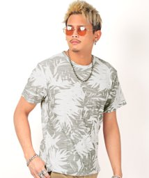LUXSTYLE/スラブネップボタニカル半袖Tシャツ/Tシャツ メンズ 半袖 スラブニット ボタニカル柄/503119061