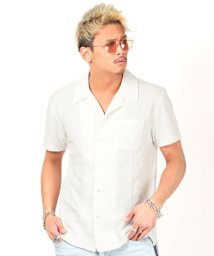 LUXSTYLE/ボタニカルリンクスJQD開襟シャツ/開襟シャツ メンズ オープンカラーシャツ 半袖/503119062