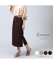emma/細見えインタックスリムロングツイルスカート/503119307