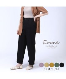 emma/脚のラインが変えられるとろみ素材パンツ/503119308
