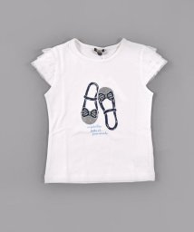 BeBe/スムースリボンシューズプリントTシャツ/502980787