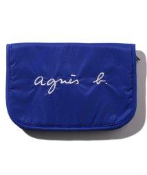 agnes b. ENFANT/GL11 E CARNET ロゴ刺繍母子手帳ケース/503053516