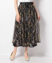 axes femme/ミモザ刺繍チュールロングスカート/503106481