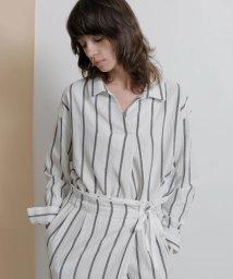 TONAL/【セットアップ対応商品】 ストライプスキッパーシャツ/503107307
