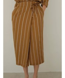 TONAL/ 【セットアップ対応商品】ストライプアシメタイトスカート/503107309