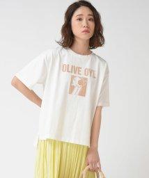 socolla/【socolla】OLIVEフロッキープリントTシャツ/503116884