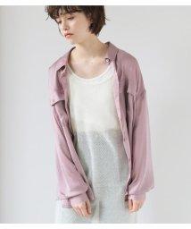 Avan Lily/ヴィンテージサテンシャツ/503120364