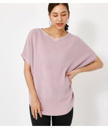 AZUL by moussy/HALF SLEEVE 2WAY KNIT TOPS/503120374