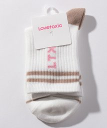 Lovetoxic/縦ロゴラインクルーソックス/503089925